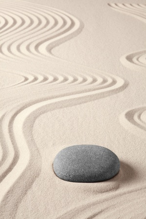 balance harmony zen meditation concept japanese garden simplicity purity and spirituality in pattern of sand and stones photo