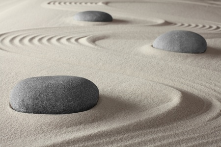 spiritual meditation zen garden concept for relaxation concentration harmony balance and simplicity holistic tao buddhism or spa treatment photo