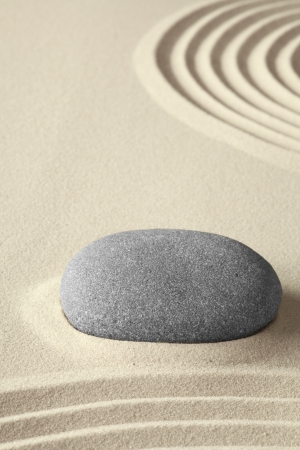 spa zen relaxation garden japanese culture concept for concentration and purity sand and stones background photo