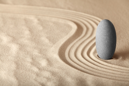 alternative wellness: zen garden symplicity and harmony form a background for meditation and relaxation, for balance and health