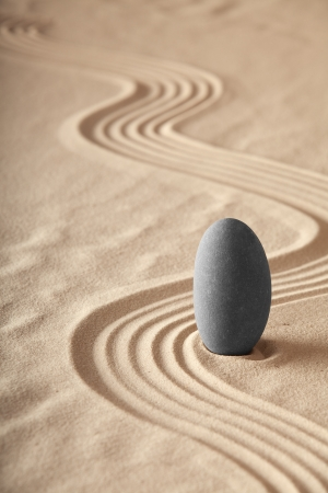zen garden symplicity and harmony form a background for meditation and relaxation, for balance and health photo