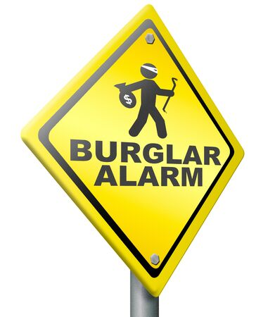 burglar alarm prevention from burglary and robbery warning sign safety photo
