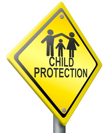child protection safe happy family warm home young family father mother and child silhouette protect son daughter raising kids by parents parental care Stock Photo - 14945227