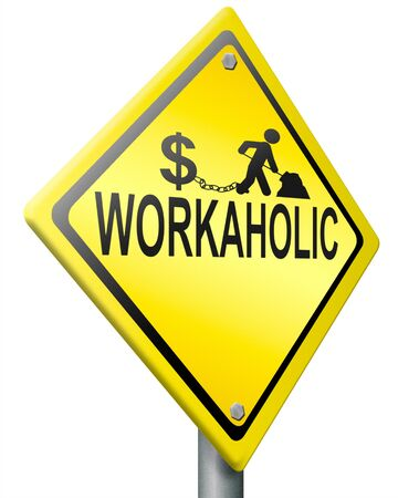 workaholic hard work, overworked and under paid job stress for earning money stressful career Stock Photo