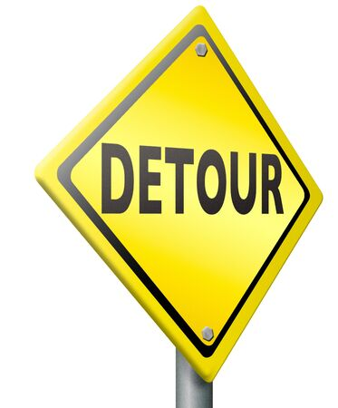 detour road sign access denied signpost isolated Stock Photo - 15491757