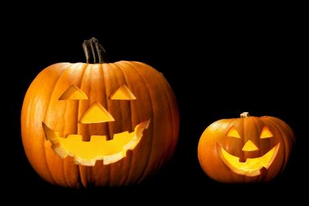 jackolantern: Halloween pumpkin head scary face with evil eye jack