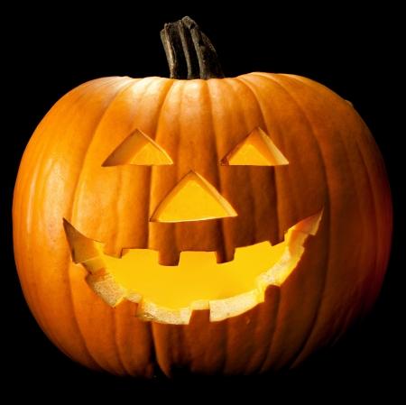 citrouille halloween: Halloween visage effrayant tête de citrouille avec des yeux mal prise