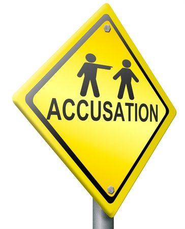 accusation: false accusation pointing finger  or getting fired accuse other picking person select volunteer guilty firing employee