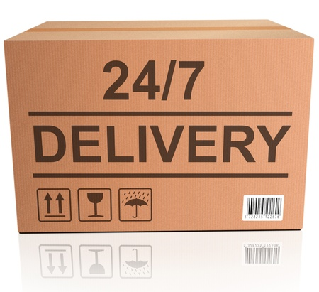 webshop: 247 delivery package shipment from order on online webshop
