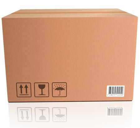cardboard box brown blank package photo