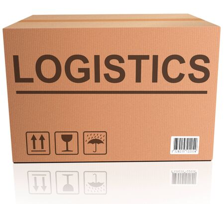 logistics international trade import and export cardboard box photo