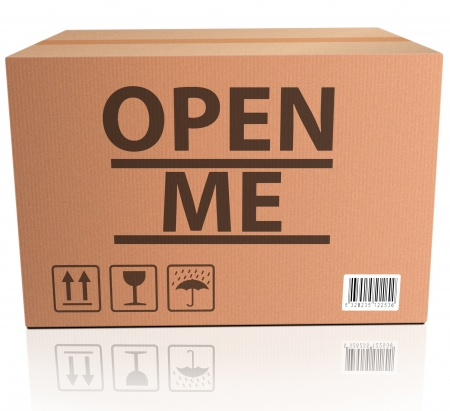 open me internet web icon, opening reveal and discover surprise and mystery Stock Photo - 15889221