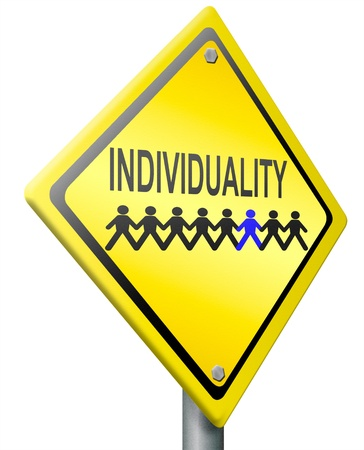 others: individuality personality and own character different from the others