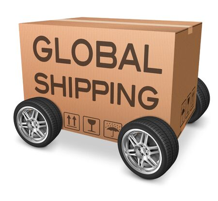 importation: global shipping importation and exportation logistics international trade web shop order transportation icon Stock Photo