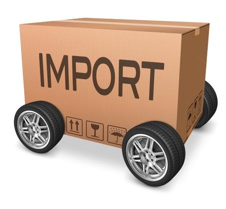 importation: importation cardboard box logistics and freight transportation import and export