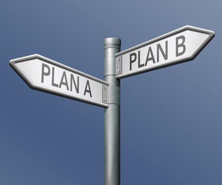 chose: piano di backup a o b o strategia alternativa ha scelto la soluzione