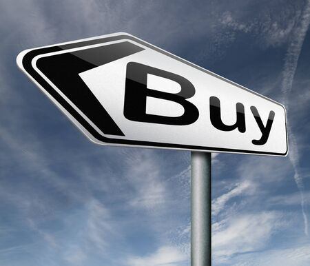 buy road sign online sales sell on internet shop online shop buy button shopping webpage Stock Photo - 16575394