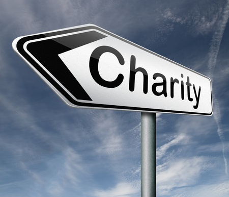 generoso: caridad recaudar dinero para ayudar a recaudar fondos donan regalos dar una generosa donaci�n o ayuda con la flecha recaudar fondos carretera signo