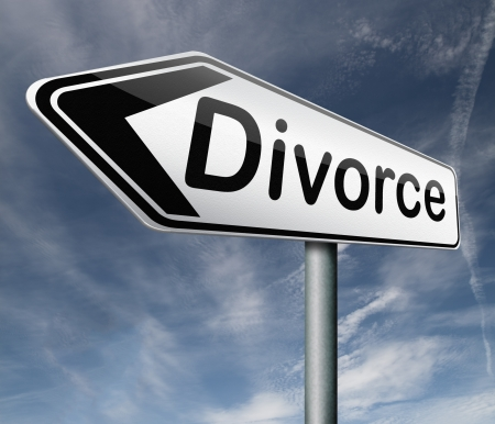 divorce papers or document by lawyer to end mariage dissolution often after domestic violence alimony parental plan and rights photo