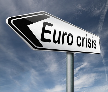 Euro crisis bank crash credit or housing bubble leading to economic recession or depression Stock Photo - 16575531