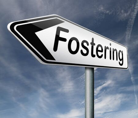 fostering: fostering,child care and adoptation Stock Photo