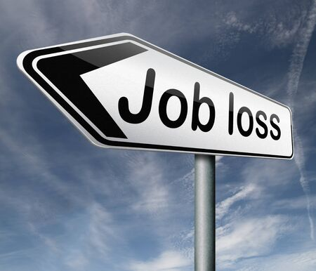 jobless: job loss getting fired loose your youre fired loss work jobless Stock Photo