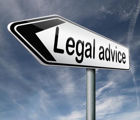 asesoria legal: asesoramiento legal o informaci�n de asesor letrado cuando ir a juicio Foto de archivo