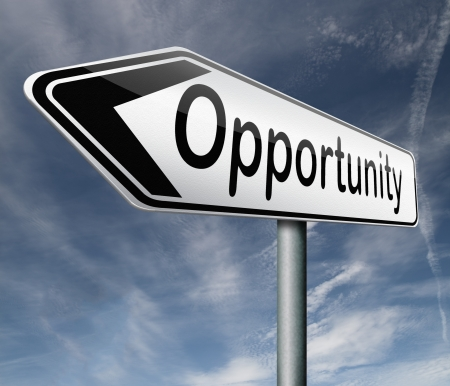opportunity chance to follow the road towards success button icon Stock Photo - 16575577