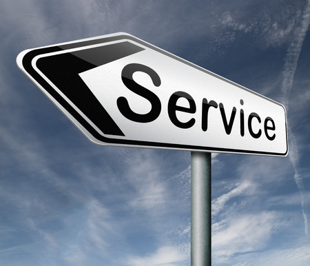 service get online help and support service button service icon isolated arrow Stock Photo - 16575487