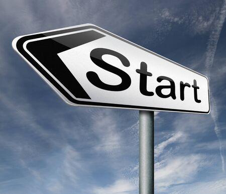 empezar: iniciar bot�n de inicio icono comenzar origen principio