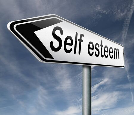 self esteem: self esteem or respect confidence and pride psychology Stock Photo