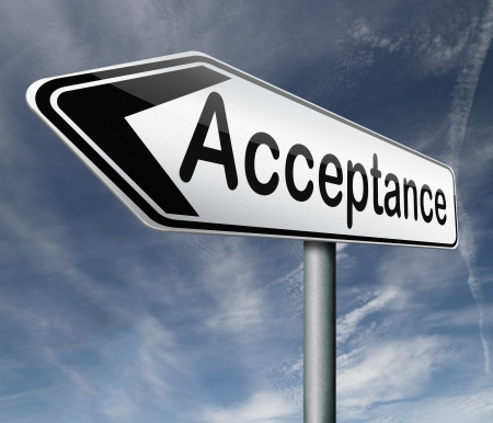 acceptance accept and approve results Stock Photo - 16821425