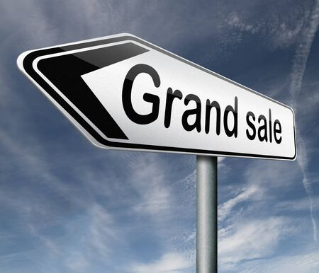 grand sale sales and reduced prices % off Stock Photo - 16820614