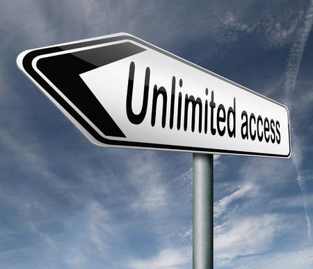 no pase: acceso ilimitado sin restricciones de todas las áreas de membresía VIP