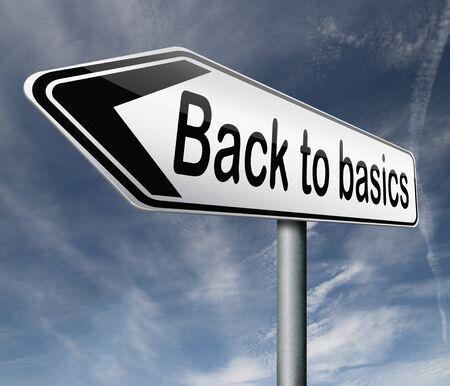 vereenvoudigen: back to basics houd het simpel terug naar de roots Stockfoto