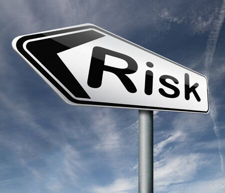 risk assessment or risks management and analysis benefit cost and security and safety hazard  Stock Photo - 16821347