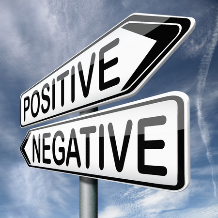 good attitude: positive thinking or think negative positivity or negativity is all in the mind optimistic or pessimistic look at sunny side of life is a good attitude
