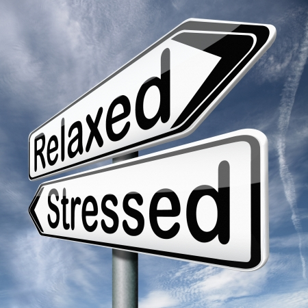 stress therapy and management helps in relaxation reduce tension and relief negativity become relaxed not stressed reduction of negative vibes destressing trough meditation and concentration Stock Photo