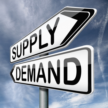 rarity: supply and demand market price depends on rarity and product value Stock Photo