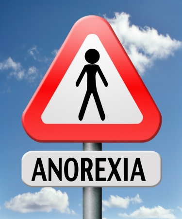 anorexia nervosa eating disorder with under weight as symptoms needs prevention and treatment is caused by extreme dieting, diet and bolimia can cause it Stock Photo - 17411470