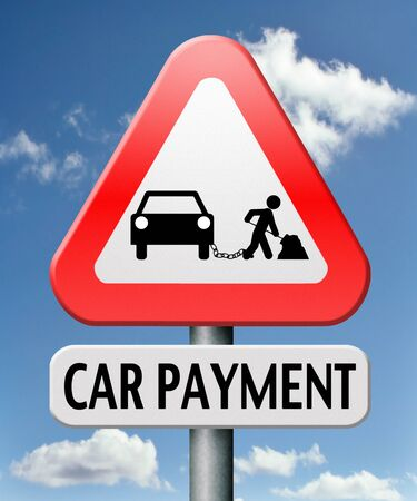loaning: car payment or loan from bank financing for expensive first mobile buying on credit