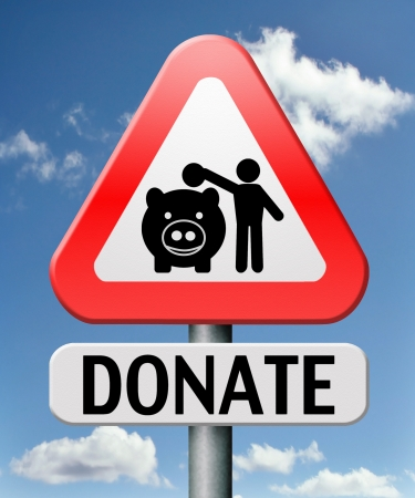 donate to charity help fund raising give money donation Stock Photo - 17411402