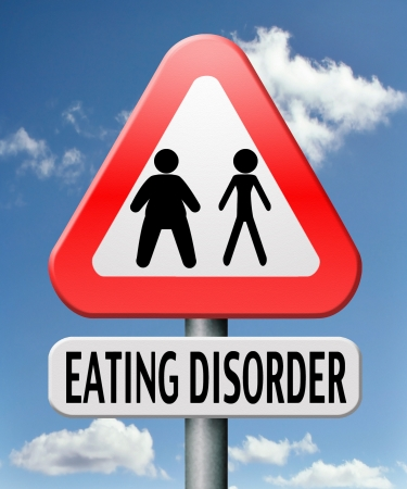 bulimia: eating disorder anorexia obesity obese or too skinny  Stock Photo