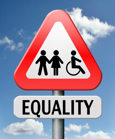 equality and solidarity equal rights and opportunities no discrimination Stock Photo - 17411473