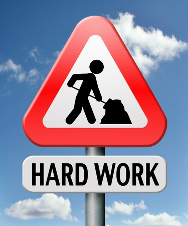hard work busy with important job working sign Stock Photo - 17411413