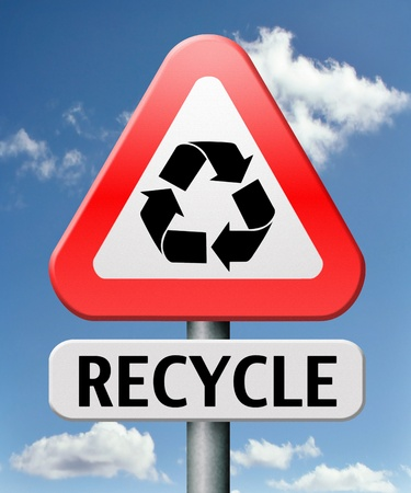 waste prevention: recycle recycling waste prevention for paper glas plastic and more Stock Photo