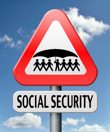 social security services benefit plans for retirement healthcare disability and unemployment Stock Photo - 17411472