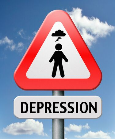 depression or nervous breakdown disorder of mental health psychotherapy diagnosis for therapy Stock Photo - 17411548