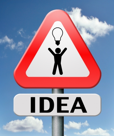 bright ideas brilliant great idea new innovation or invention eureka creative solution or discovery Stock Photo - 17411447
