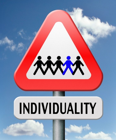 individuality stand ou from crowd being different having a unique personality be one of a kind personal development and existence photo
